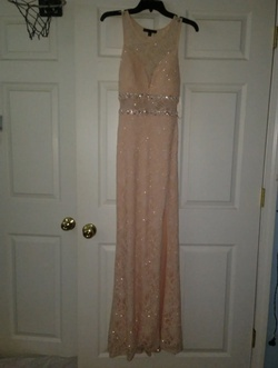 Queenly size 4  Pink Side slit evening gown/formal dress