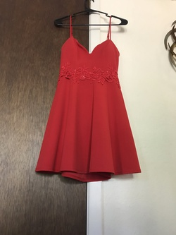 B. Darlin Red Size 8 Homecoming Flare Cocktail Dress on Queenly