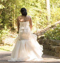 Sherri Hill White Size 10 Wedding Corset Lace Mermaid Dress on Queenly