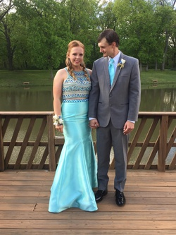 Queenly size 14  Blue Mermaid evening gown/formal dress