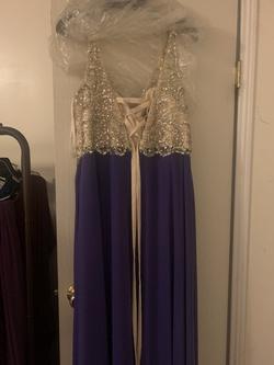 Blue Size 18 Side slit Dress on Queenly