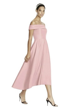 Queenly size 8 Studio Design Dessy Group Pink Cocktail evening gown/formal dress
