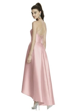 Alfred Sung Light Pink Size 10 Halter Cocktail Dress on Queenly