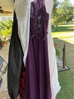 Queenly size 22  Purple Straight evening gown/formal dress