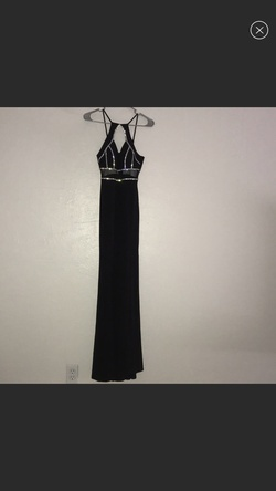 Queenly size 2 Social Code Black Side slit evening gown/formal dress