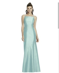 Queenly size 12 Alfred Sung Blue Mermaid evening gown/formal dress