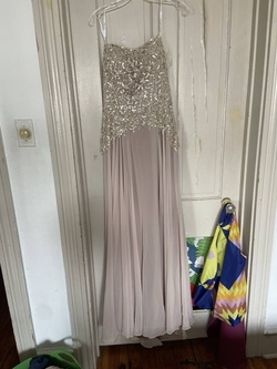 Queenly size 14 Cameron Blake Nude Ball gown evening gown/formal dress