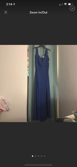 Blue Size 16 Ball gown on Queenly