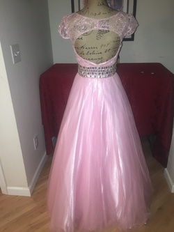 Party Time Formals Pink Size 4 Party Sheer Ball gown on Queenly