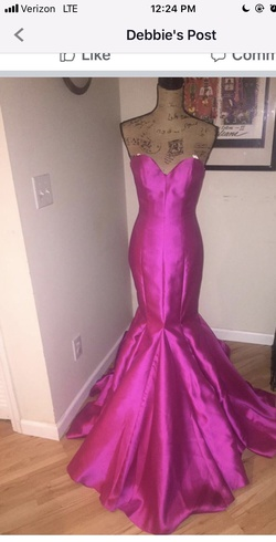 Queenly size 0 Vienna Pink Mermaid evening gown/formal dress
