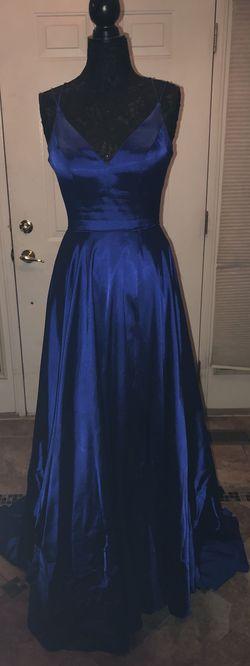 Sherri Hill Blue Size 0 Silk Straight Dress on Queenly
