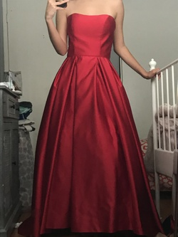 Betsy & Adam Red Size 4 Betsy And Adam A-line Dress on Queenly