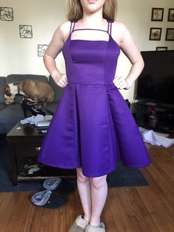 Queenly size 0  Purple Cocktail evening gown/formal dress