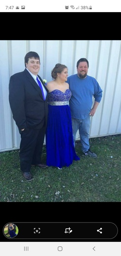Blue Size 22 Ball gown on Queenly