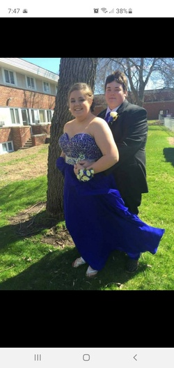 Queenly size 22  Blue Ball gown evening gown/formal dress