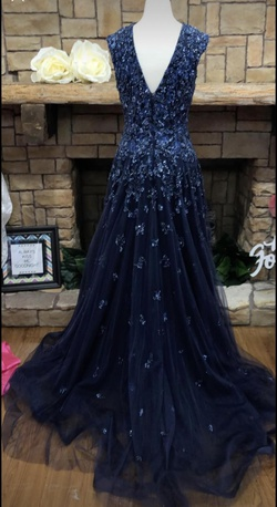 Jovani Blue Size 12 A-line Dress on Queenly