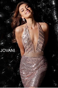 Jovani Gold Size 2 Cocktail Dress on Queenly