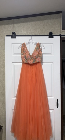 Orange Size 6 Ball gown on Queenly