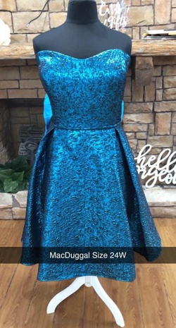 Mac Duggal Blue Size 24 Cocktail Dress on Queenly