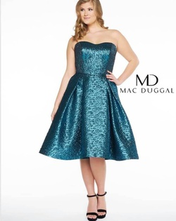 Queenly size 24 Mac Duggal Blue Cocktail evening gown/formal dress