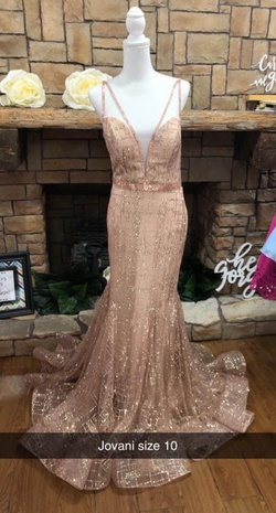 Jovani Gold Size 10 A-line Dress on Queenly
