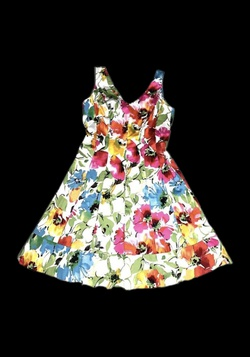 Multicolor Size 10 A-line Dress on Queenly