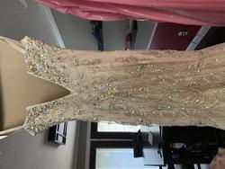Mac Duggal Nude Size 0 Train Mermaid Dress on Queenly