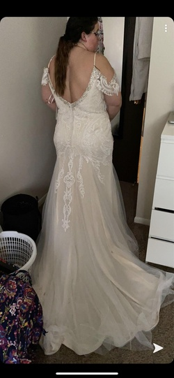 Queenly size 22  White Mermaid evening gown/formal dress