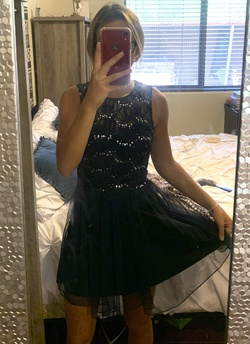 Queenly size 2 Speechless Blue Cocktail evening gown/formal dress