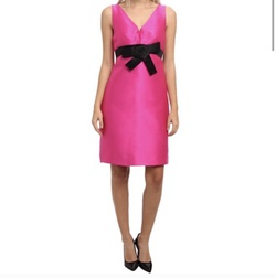Queenly size 8 Kate Spade Pink A-line evening gown/formal dress