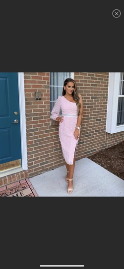 Pink Size 4 Side slit Dress on Queenly
