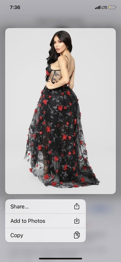 FashionNova Black Size 2 Prom Ball gown on Queenly