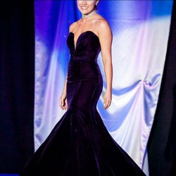 Sherri Hill Purple Size 2 Train Custom Mermaid Dress on Queenly