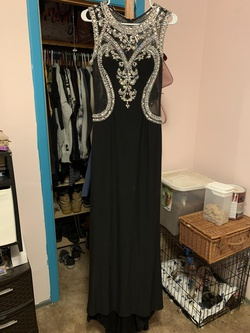 Cindy Black Size 12 Prom Plus Size Straight Dress on Queenly