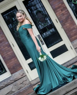 Queenly size 10  Green Mermaid evening gown/formal dress