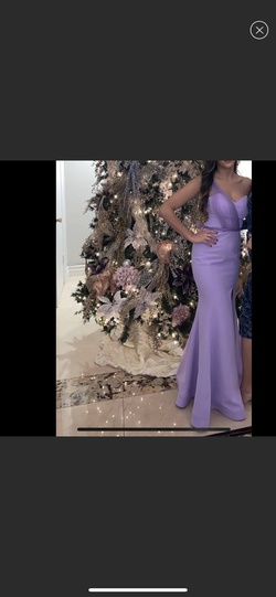 Queenly size 4  Purple Side slit evening gown/formal dress