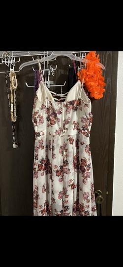Midnight Doll White Size 14 Jumpsuit Graduation Plus Size Romper/Jumpsuit Dress on Queenly