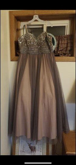 Nude Size 18 Ball gown on Queenly