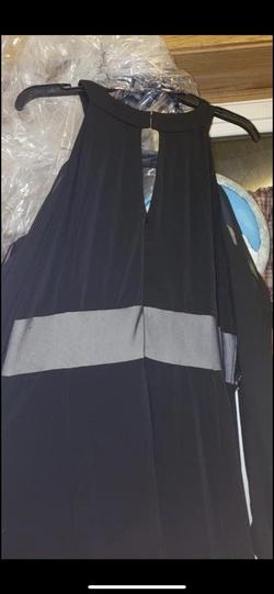 Black Size 18 Side slit Dress on Queenly