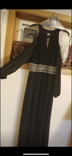 Queenly size 18  Black Side slit evening gown/formal dress