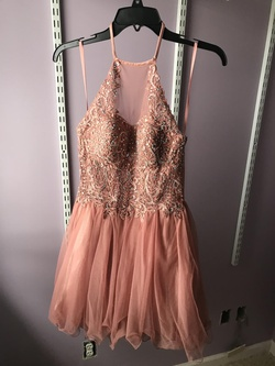 Queenly size 0 Blondie Nites Pink Cocktail evening gown/formal dress