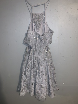 B.darlin Silver Size 14 Cut Out Plus Size Cocktail Dress on Queenly