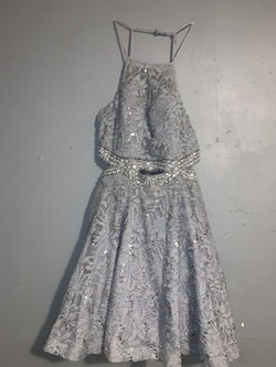 Queenly size 14 B.darlin Silver Cocktail evening gown/formal dress