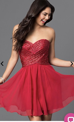 Queenly size 18 prom girl Red Cocktail evening gown/formal dress