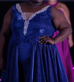 Blue Size 26 Train Dress on Queenly