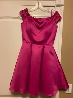 Queenly size 0 Mori Lee Pink Cocktail evening gown/formal dress