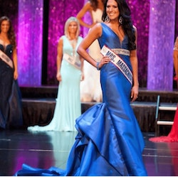 Mac Duggal Blue Size 2 Belt Train Dress on Queenly