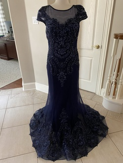 Queenly size 10  Blue Mermaid evening gown/formal dress