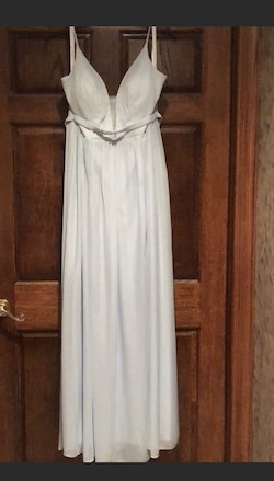 Queenly size 16  Blue Side slit evening gown/formal dress