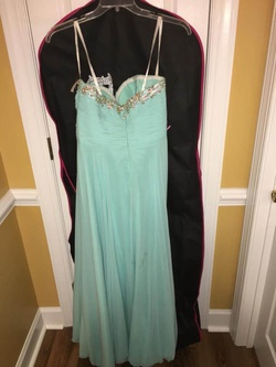 Style nan Tony Bowls Blue Size 12 Plus Size A-line Dress on Queenly